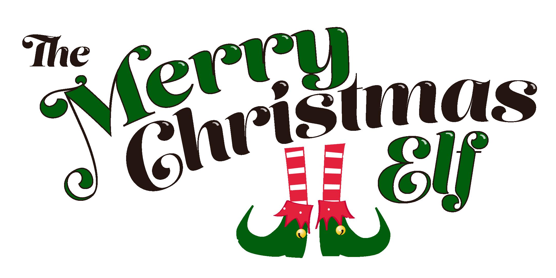 Merry Christmas Elf Logo